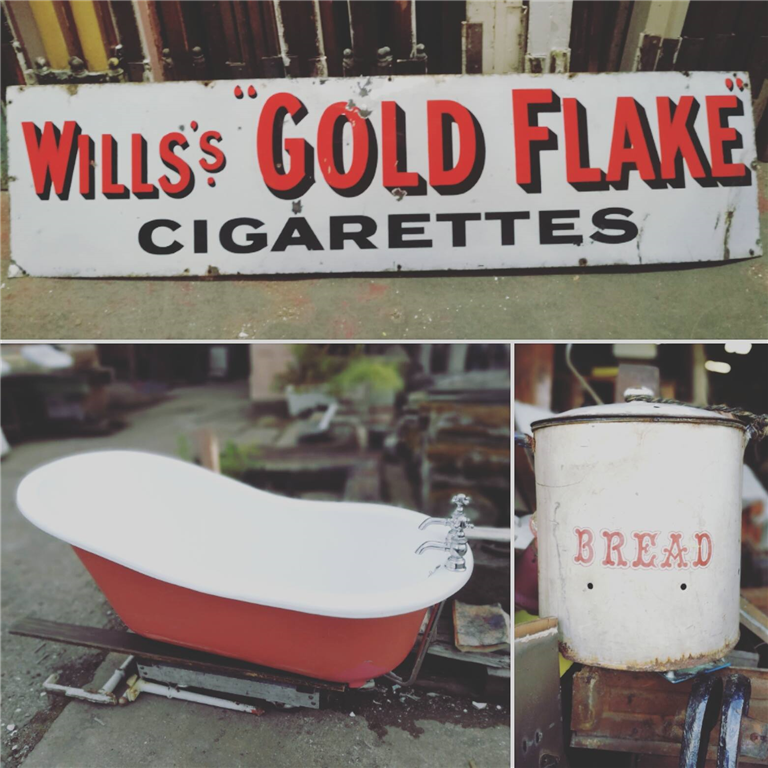 We occasionally take in the odd bath in very good condition.  We love enamel signs and quirky little objects that we find when we are salvaging! Gallery Image