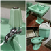 We don't usually take coloured sanitary ware but we could not resist this set!  Look at those taps!  This set is now sold but keep an eye on our website for new additions! Gallery Thumbnail