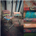 Salvaging and upcycled seating.  These particular stools are sold, but we do stock stools and chairs every so often. Gallery Thumbnail
