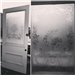 Decorative, original etched glass door. Gallery Thumbnail