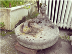 Mermaid and frog bird bath.   Gallery Thumbnail