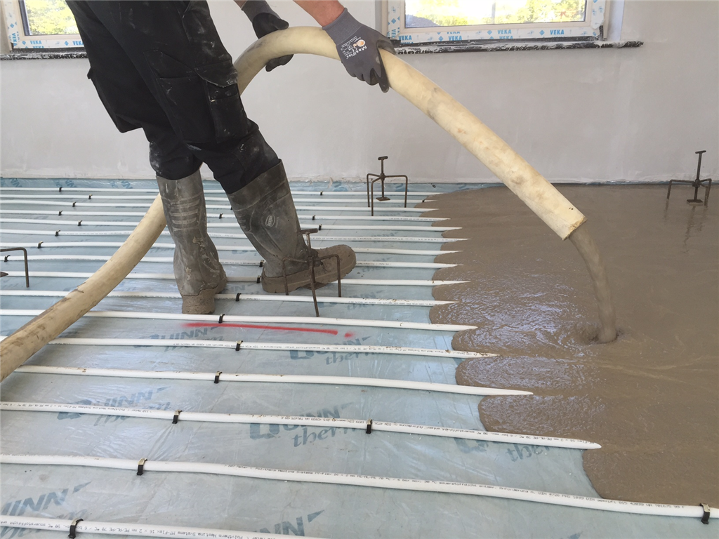 Applied at 500m² Per Day and Walkable in 6 Hours_ 280 Alpha Hemihydrate Screed Gallery Image