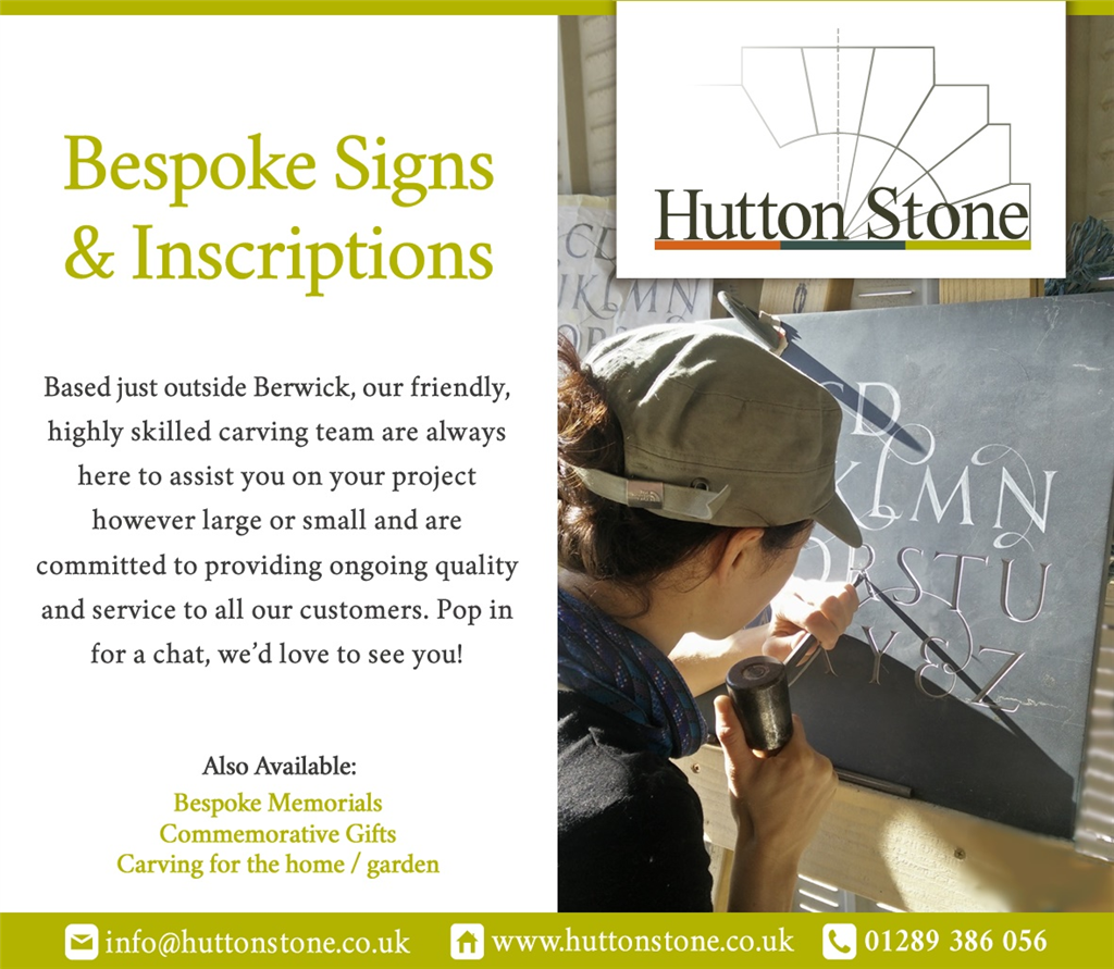 We do Bespoke signs & Inscriptions. Gallery Image