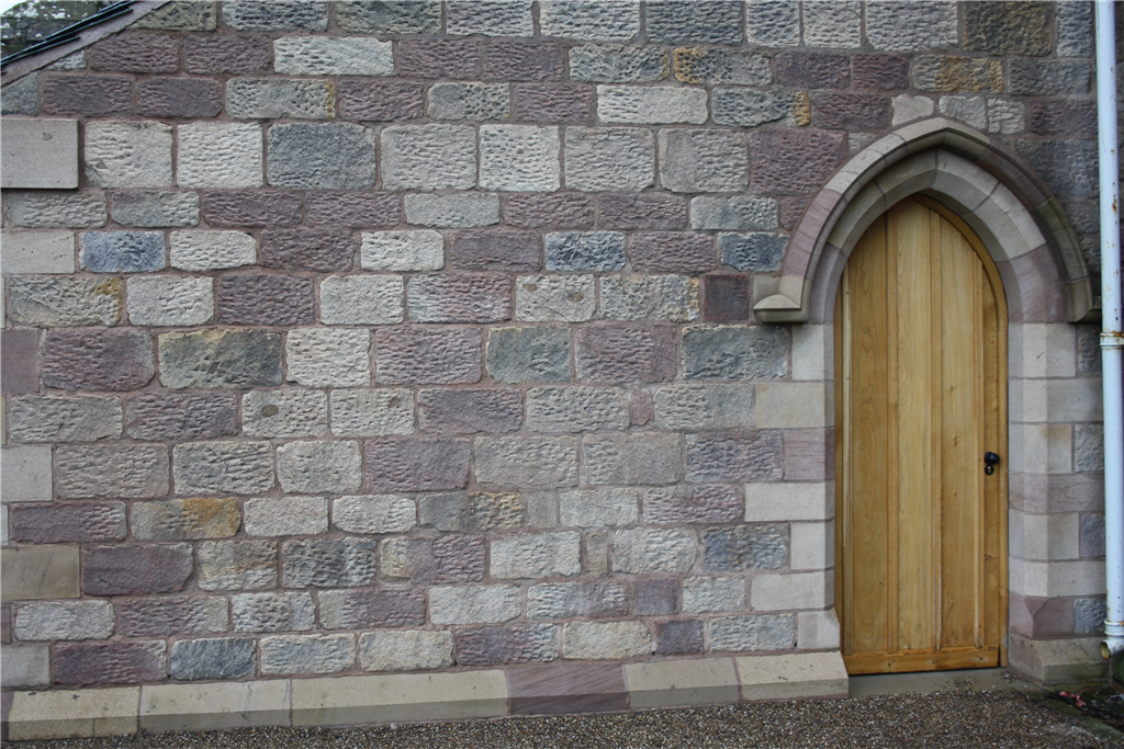Restoration at Holy Island stone used was a mix of Hazeldean, Blaxter, Dukes and Doddington.  Gallery Image