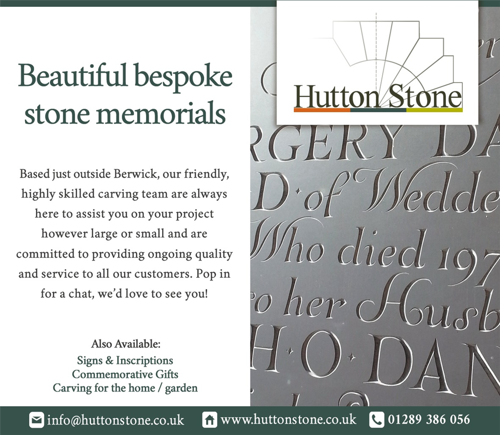 We do Beautiful Bespoke Stone Memorials.  Gallery Image