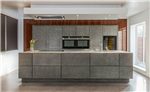 concrete look german handleless kitchen design Gallery Thumbnail