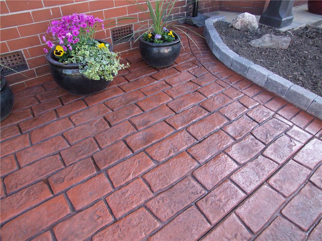 Brick Red Colour Hardener with Slate Grey Release Agent Gallery Image