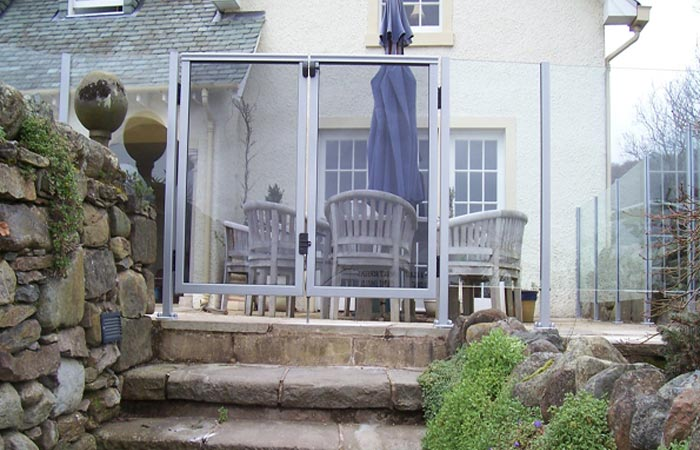 Glass balustrading incorporating gate Gallery Image