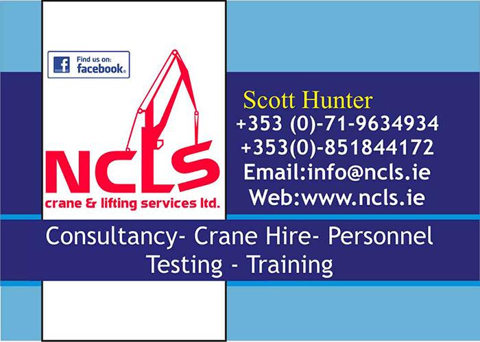 NCLS Crane & Lifting Services Ltd - Roscommon - Crane Hire