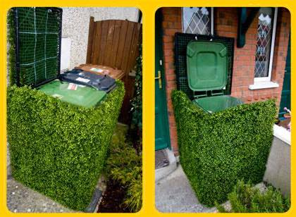 bespoke artificial hedge bin cover Gallery Image
