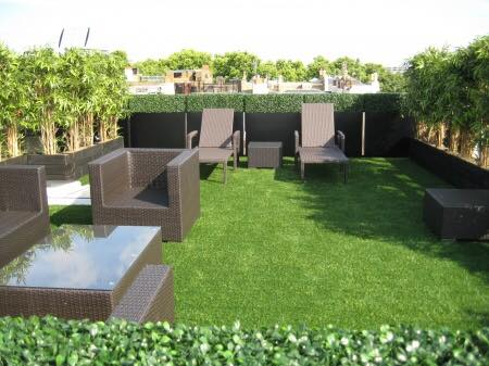 artificial hedge for roof terrace Gallery Image