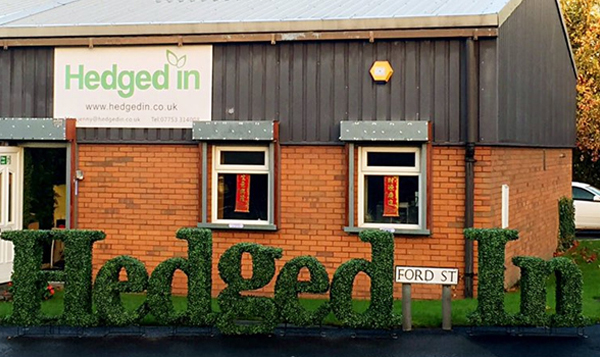 bespoke artificial hedge letter for company logos, wedding initials and special events Gallery Image