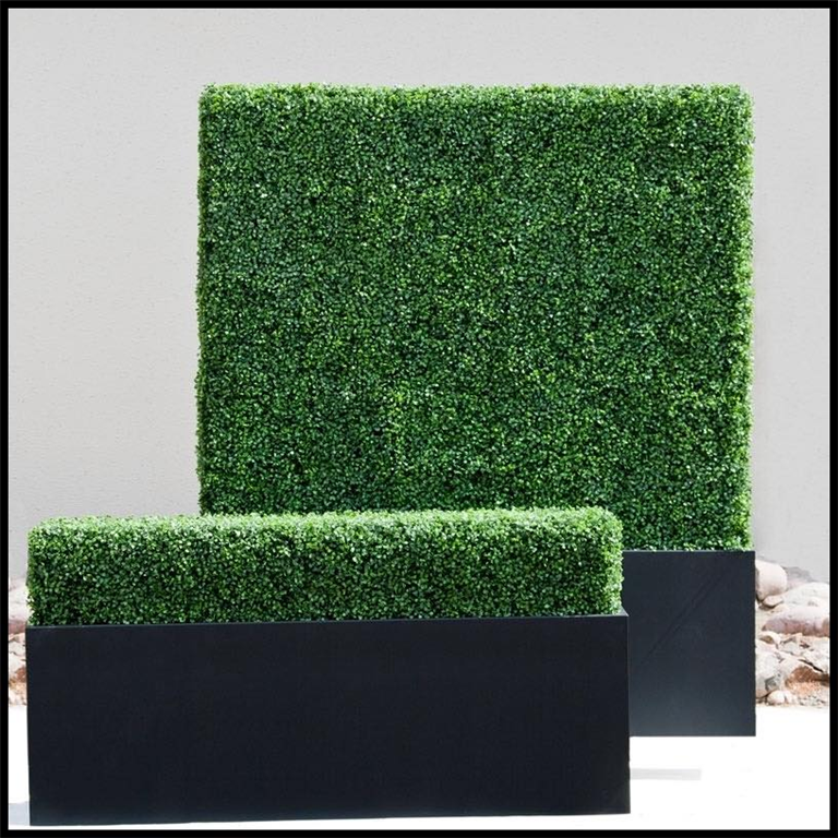 Bespoke artificial boxwood hedge planters, made to measure, any colours Gallery Image