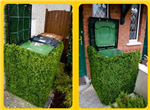 bespoke artificial hedge bin cover Gallery Thumbnail