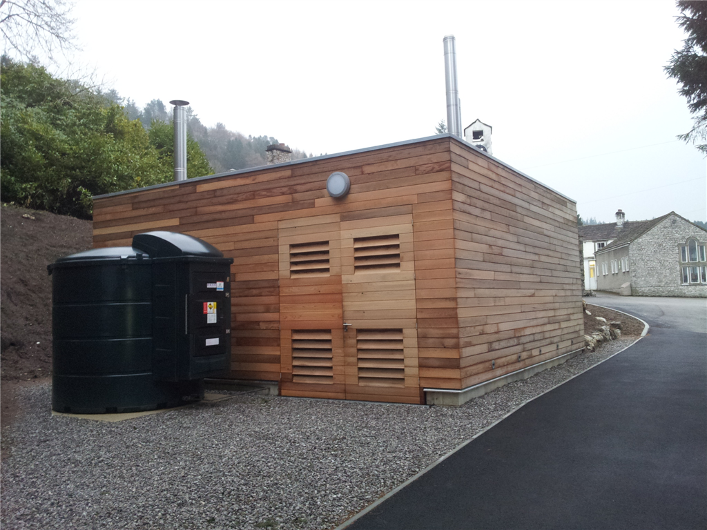 Scargill Biomass, Kettlewell - £260k construction of Biomass boiler plantroom, including large sub-terrain Biomass store.  This district heating system serves the entire site Gallery Image
