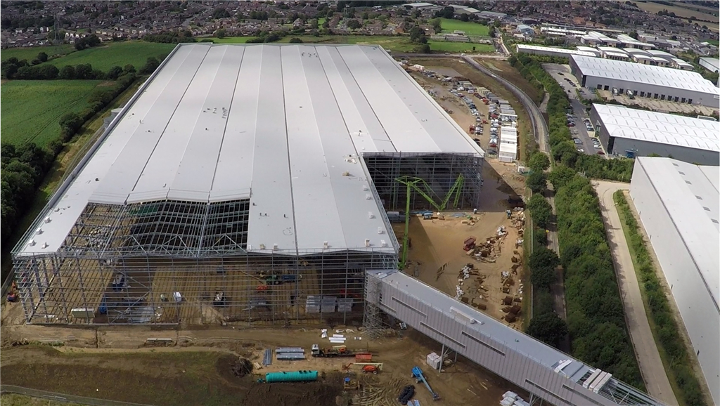 Next plc, Doncaster - £55m distribution warehouse, together with offices, call centre, link bridge extension to existing facilities, external works and drainage Gallery Image