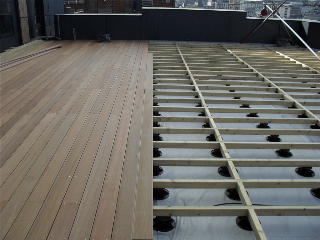 TD Supports with hardwood decking Gallery Image