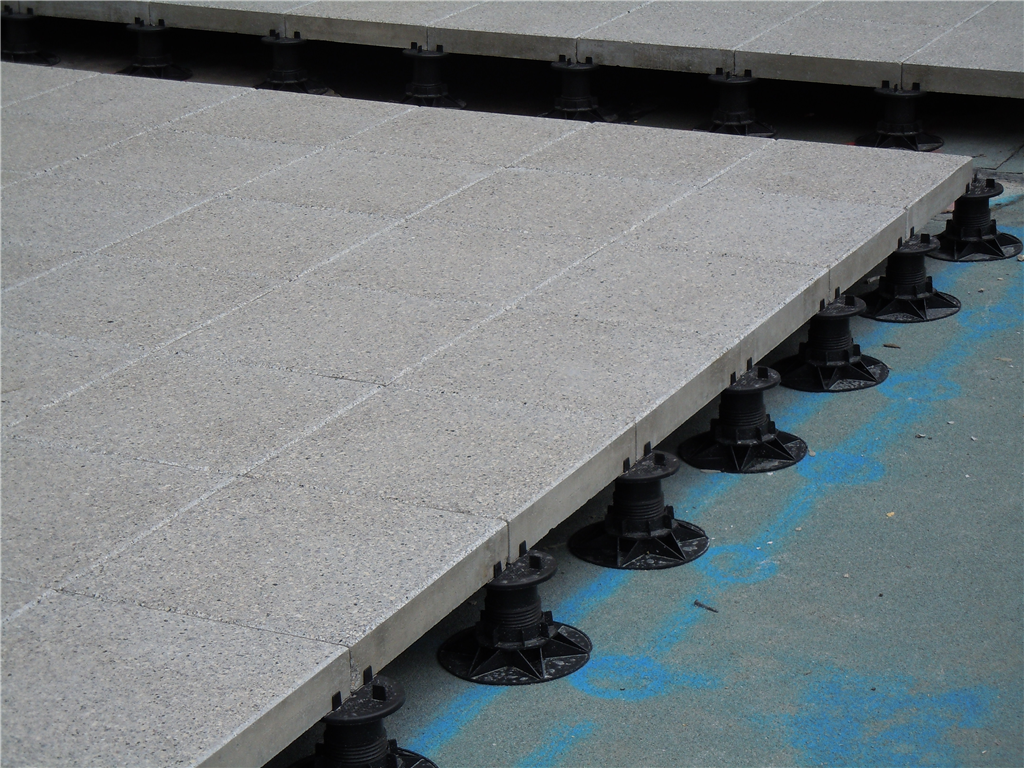 ASP adjustable pedestals with paving slabs Gallery Image