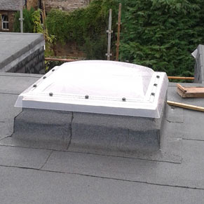 Felt roofing and skylight fitted in Edinburgh in Jan 2017 by Lothian's Roofing. Gallery Image
