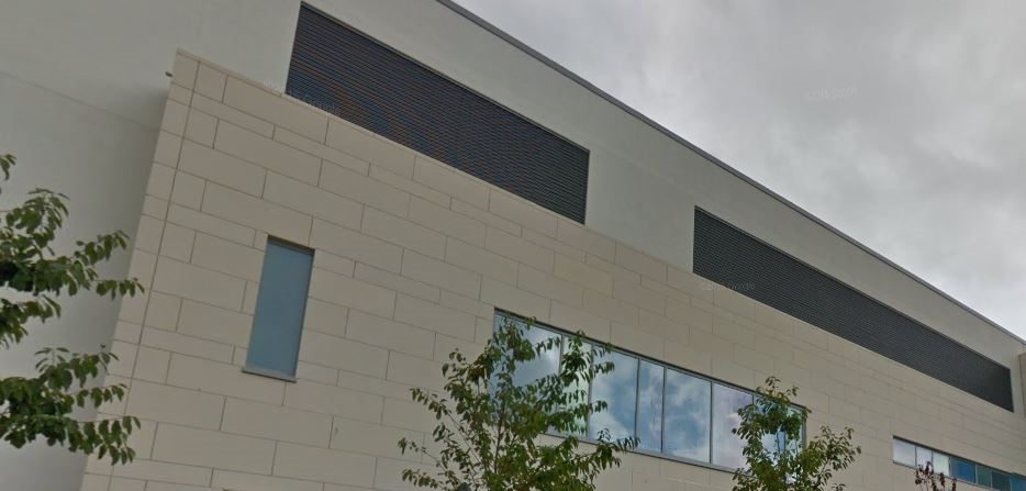 Laminate stone cladding on hospital Gallery Image