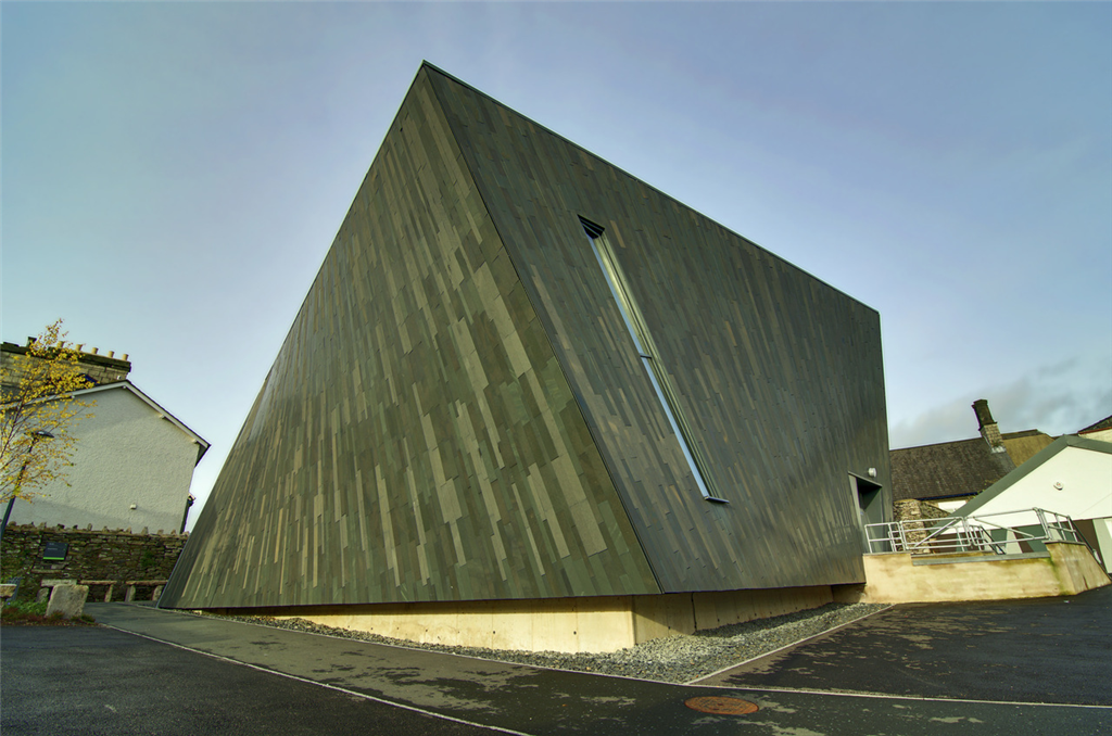 Slate cladding on curved elevations in Kendal Gallery Image