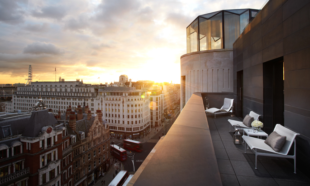London Hotel Terrace cladding and copings Gallery Image