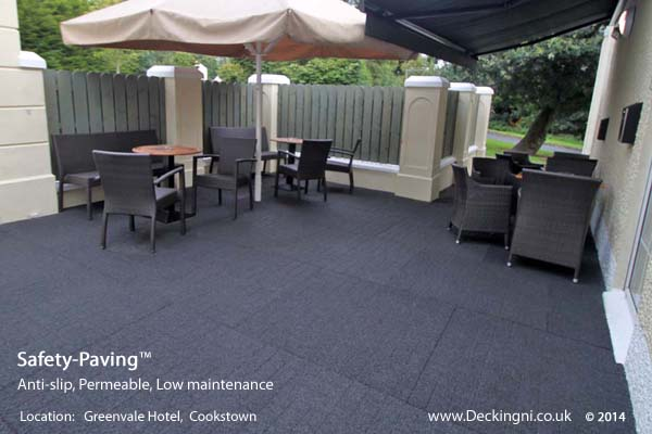 commercial anti slip - safety paving - grey - greenvale hotel Gallery Image