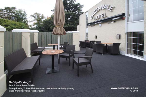 commercial anti slip - safety paving - grey - greenvale - hotel Gallery Image