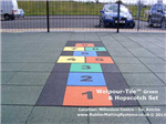child safe - wetpour tile -  rubber matting systems - hopscotch Gallery Thumbnail