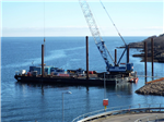 160t crane barge carrying out piling works Gallery Thumbnail