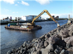 Long reach excavator barge Gallery Thumbnail