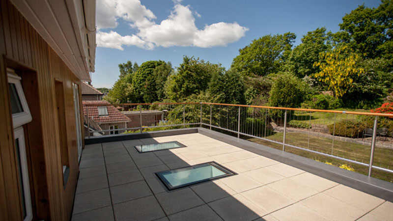 roof top terrace with walk on roof lights Gallery Image