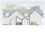 Glasgow conservation area approved house extension 3d view Gallery Thumbnail