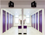 Interplan's Full Height Splash System is ideal for schools offering full privacy for students Gallery Thumbnail