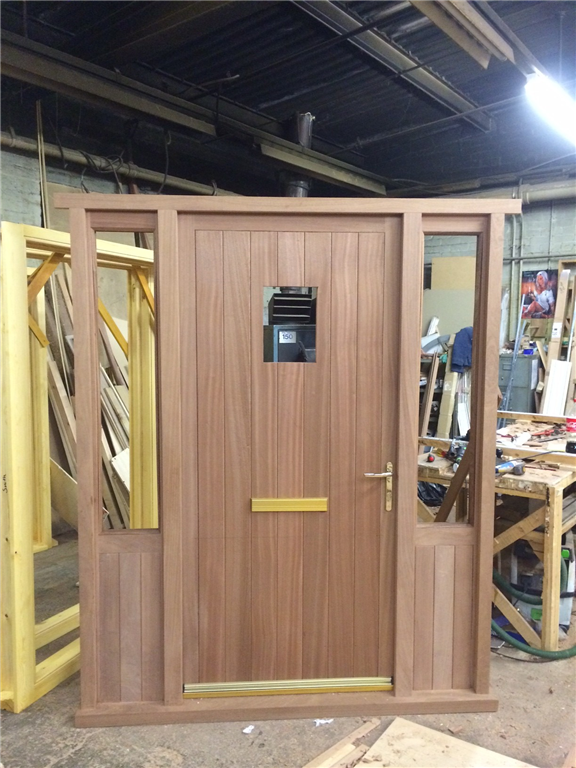 Hardwood French Door Set With Sidelights Gallery Image