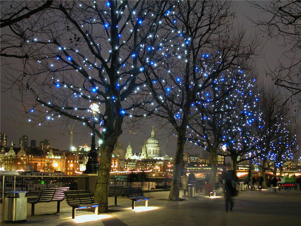 Southbank LED tree lighting Gallery Image