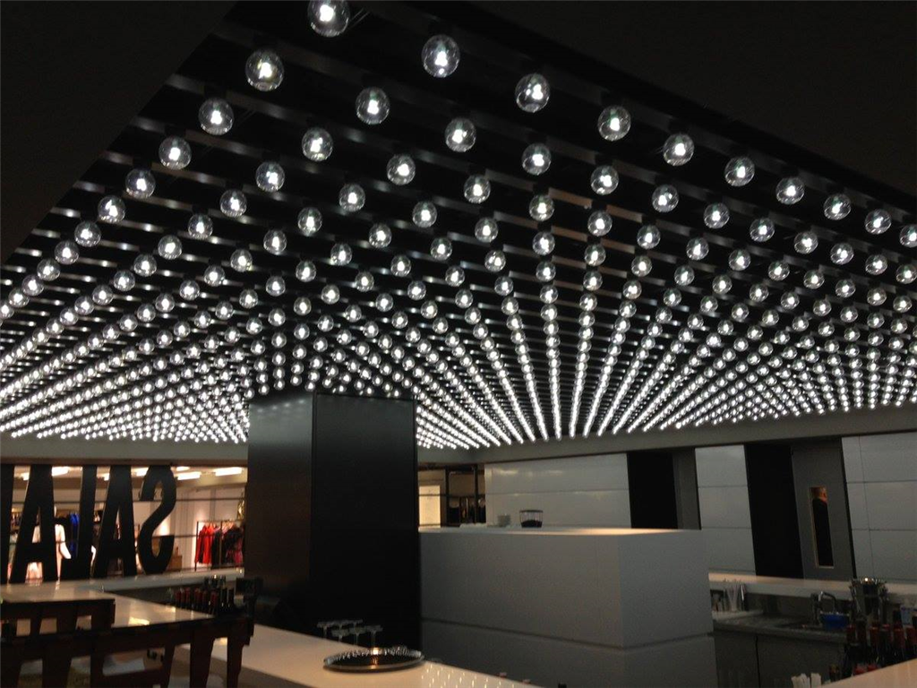 Ceiling of lights, Harrods Gallery Image