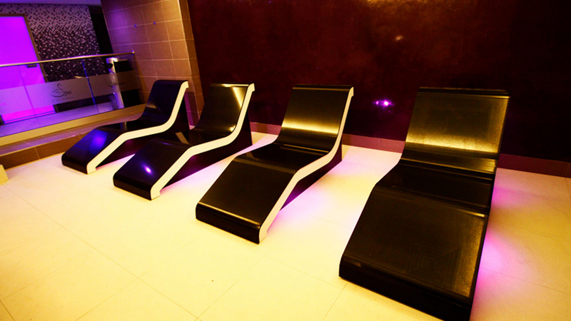 Heated Loungers complete with under lighting Gallery Image