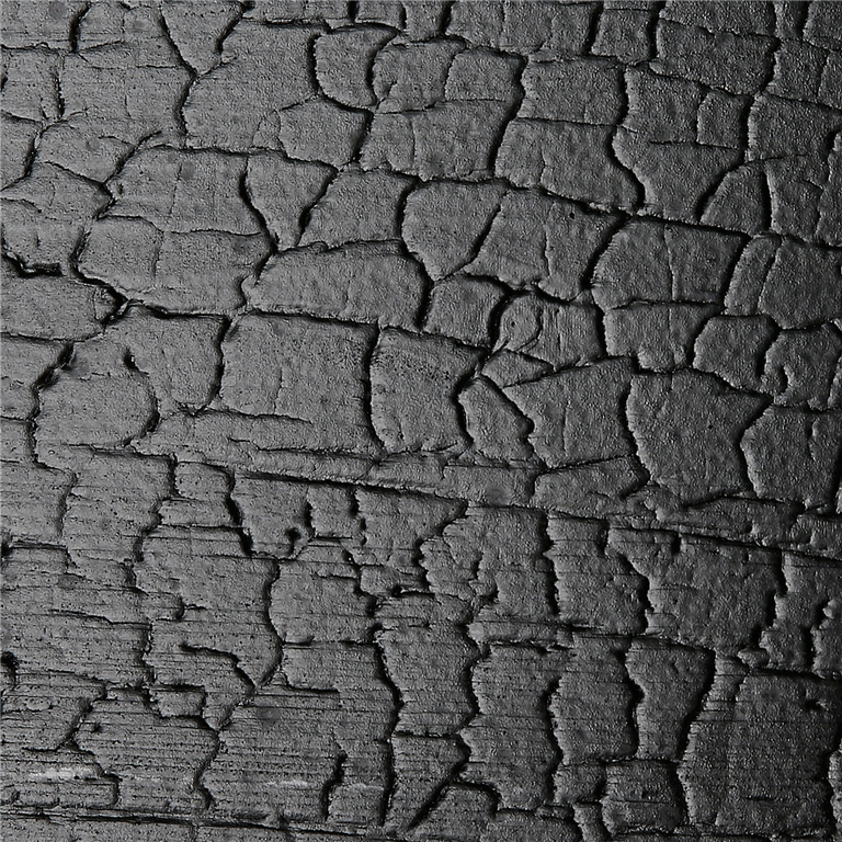 SertiWOOD DragonWOOD Black close up image charred burnt effect cladding Gallery Image