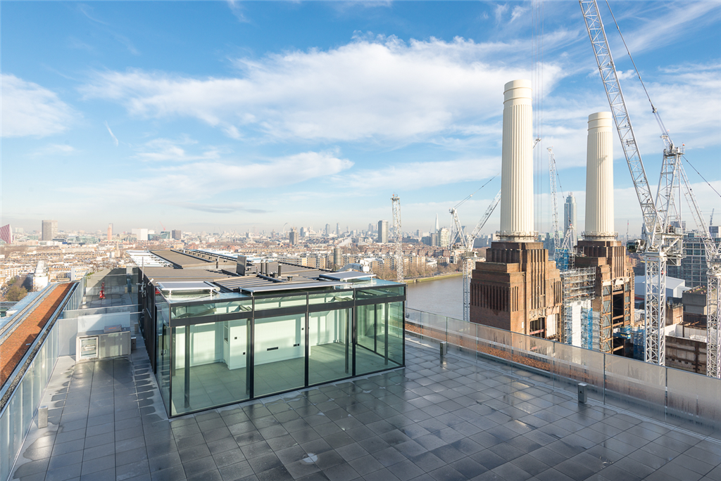 Granite paving on the roof terrace of Battersea Power Station, London Gallery Image