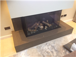Caesarstone Wild Rice Quartz fireplace, Liverpool Gallery Thumbnail