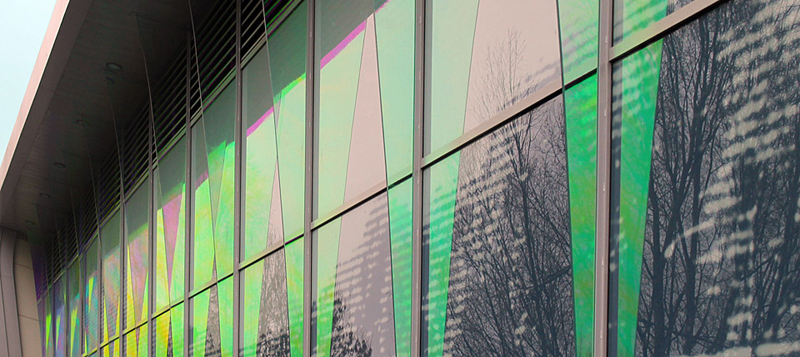Dichroic Glass, Screen-printed Glass, Historical Site-specific Art, Abbeywood Shopping Centre, Bristol Gallery Image