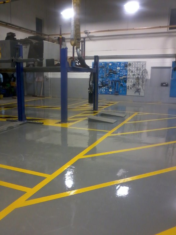 Resbuild SF Coating used in a car garage. Gallery Image