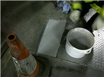 Resbuild MMA Floorpatch Pourable, high strength MMA repair mortar. Used here at -25C. Gallery Thumbnail