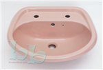 Coral Pink washbasin 2TH - many other colours, sizes and styles available Gallery Thumbnail