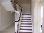 Mahogany Handrail and Treads with Painted Risers Gallery Thumbnail
