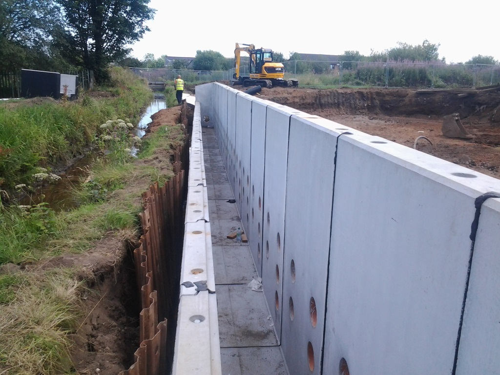 Retaining Wall with Water Channel Gallery Image