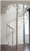 Bespoke Spiral Stair with 30mm acrylic treads, curved balustrade panels and stainless handrail Gallery Thumbnail