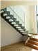 Bespoke 1/2 turn, Oak Treads and framless glass balustrade  Gallery Thumbnail