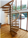 Bespoke Spiral Stair with oak treads and vertical steel balustrade  Gallery Thumbnail